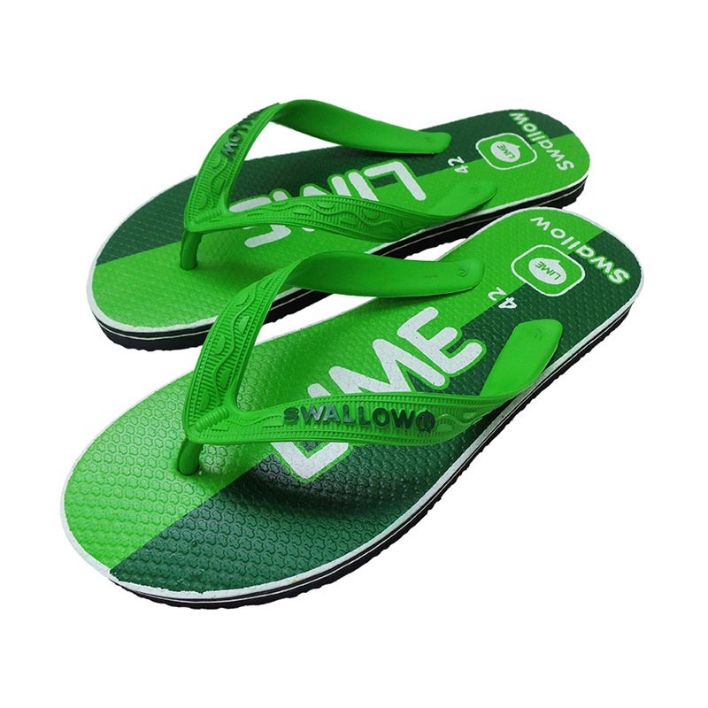 Swallow Slipper Sosmed Lime Sandal Jepit - Neo Green