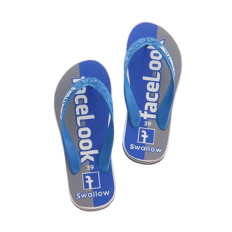 Swallow SOSMED FACELOOK Blue Sandal Jepit