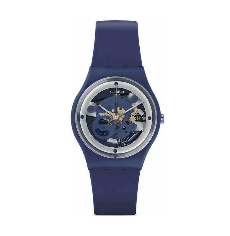 Swatch Ladies GN245 Squelette Blue Jam Tangan Wanita - Biru Tua