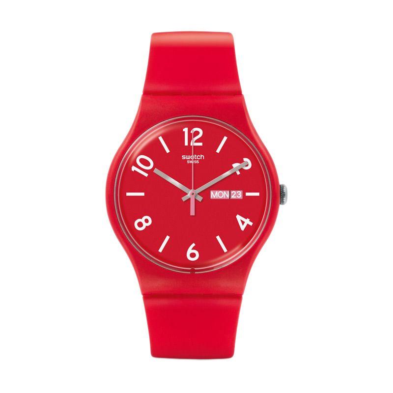 Swatch SUOR705 Casual Red Jam Tangan Pria