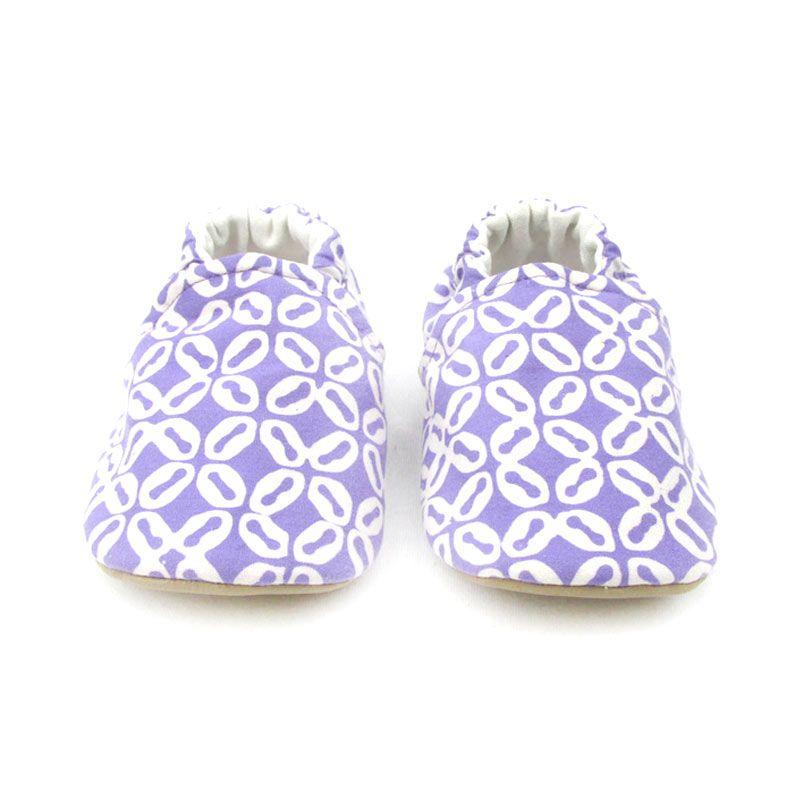 Sweet Batik Purple Sepatu Bayi