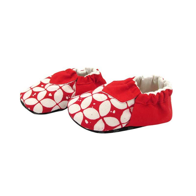 Sweet Batik Baby Shoes Juno Red