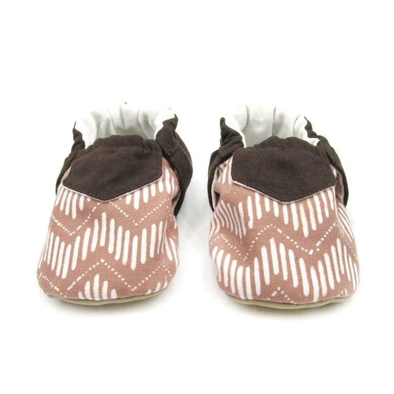 Sweet Batik Juno Coffee Chevron Shoes Sepatu Bayi