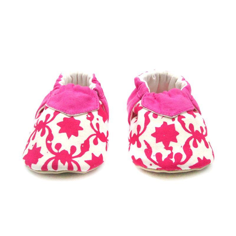 Sweet Batik Juno Pink Flower Shoes Sepatu Bayi
