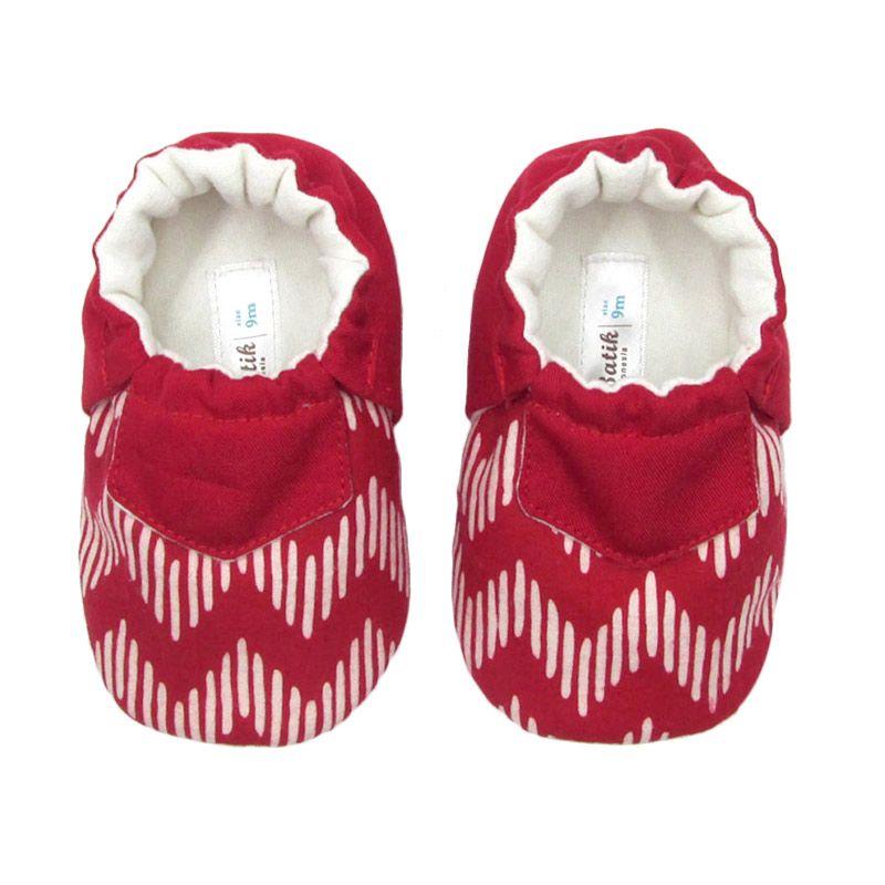 Sweet Batik Juno Red Chevron Sepatu Bayi