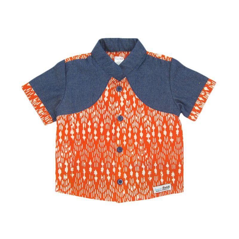 Sweet Batik Garlan Orange Atasan Anak Laki-Laki