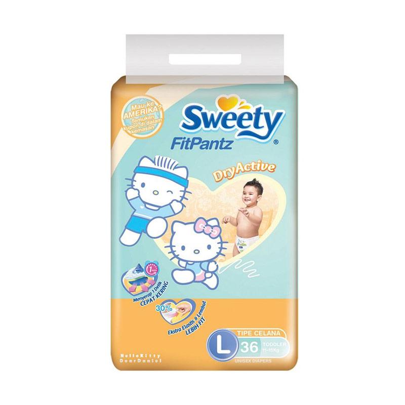 harga Sweety Fit Pants Popok Bayi [Size L/36 pcs] Blibli.com
