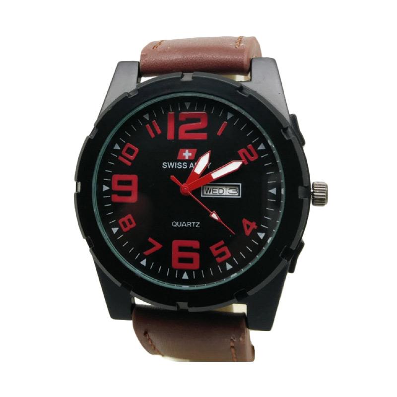 Swiss Army SA 118 Jam Tangan Pria - Coklat Merah