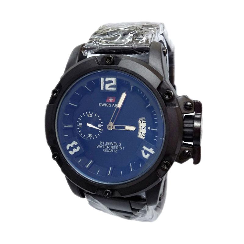 Swiss Army SA1353BB Rantai Jam Tangan Pria - Black Blue
