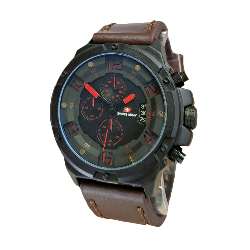 Swiss Army SA1375DBR Jam Tangan Pria - Dark Brown