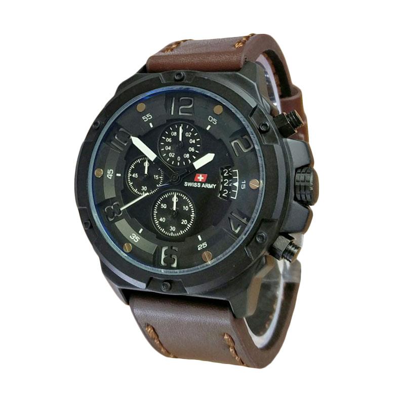 Swiss Army SA1375DBW Jam Tangan Pria - Dark Brown