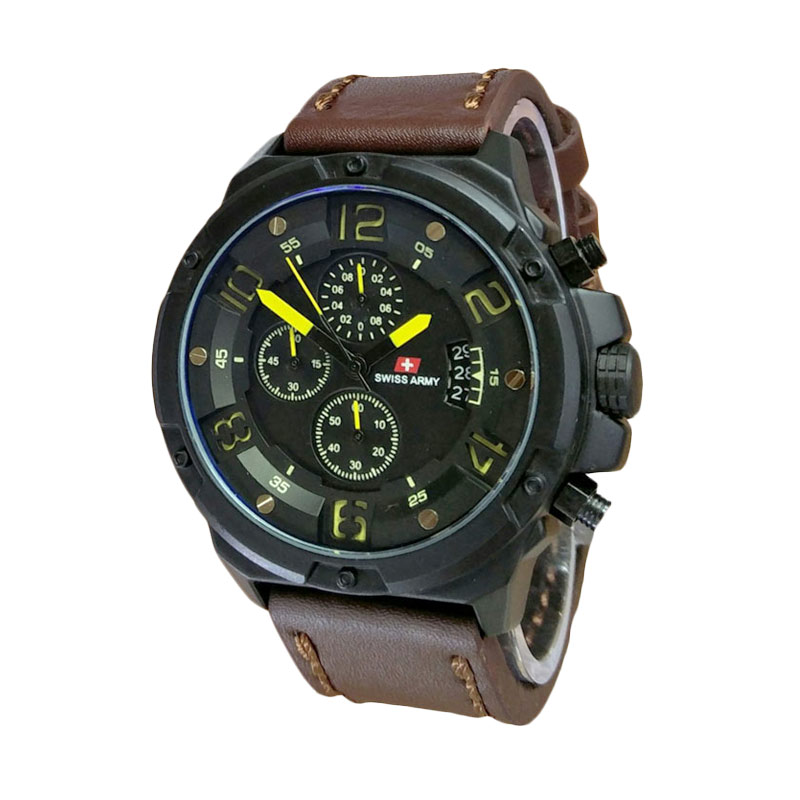 Swiss Army SA1375DBY Jam Tangan Pria - Dark Brown