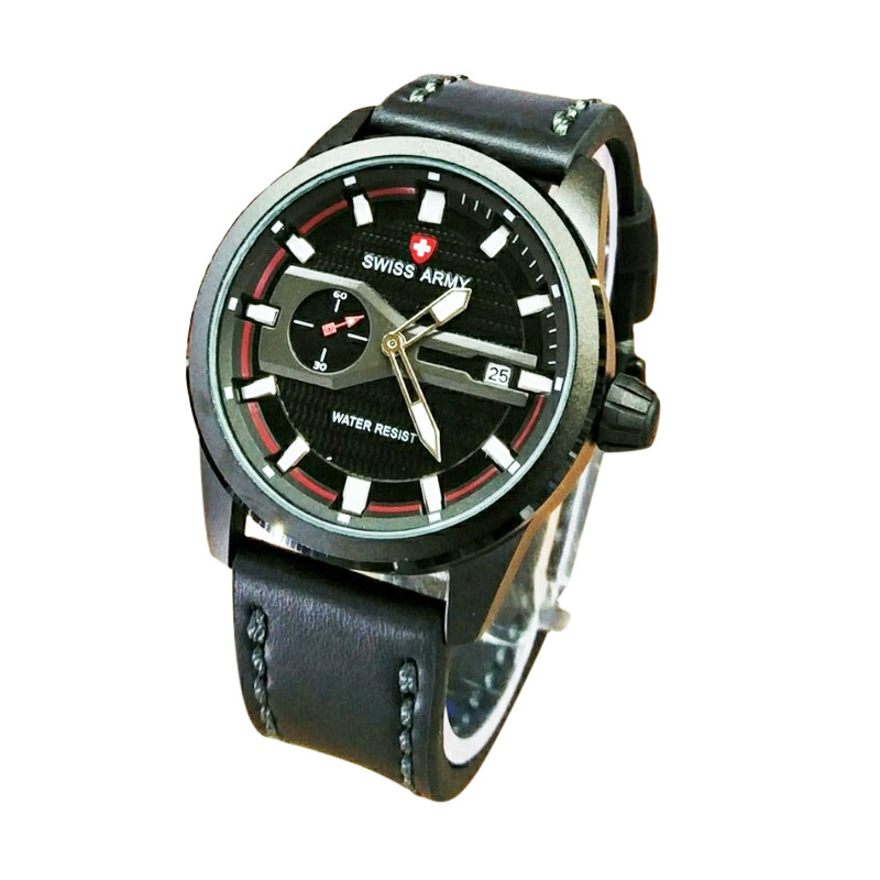 Swiss Army SA4098BR Analog Watch Jam Tangan Pria - Black Red
