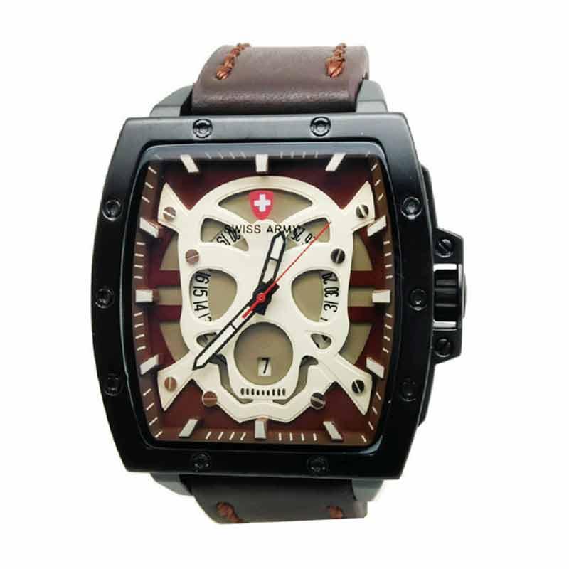 Swiss Army SA4124 Jam Tangan Pria - Coklat Tua