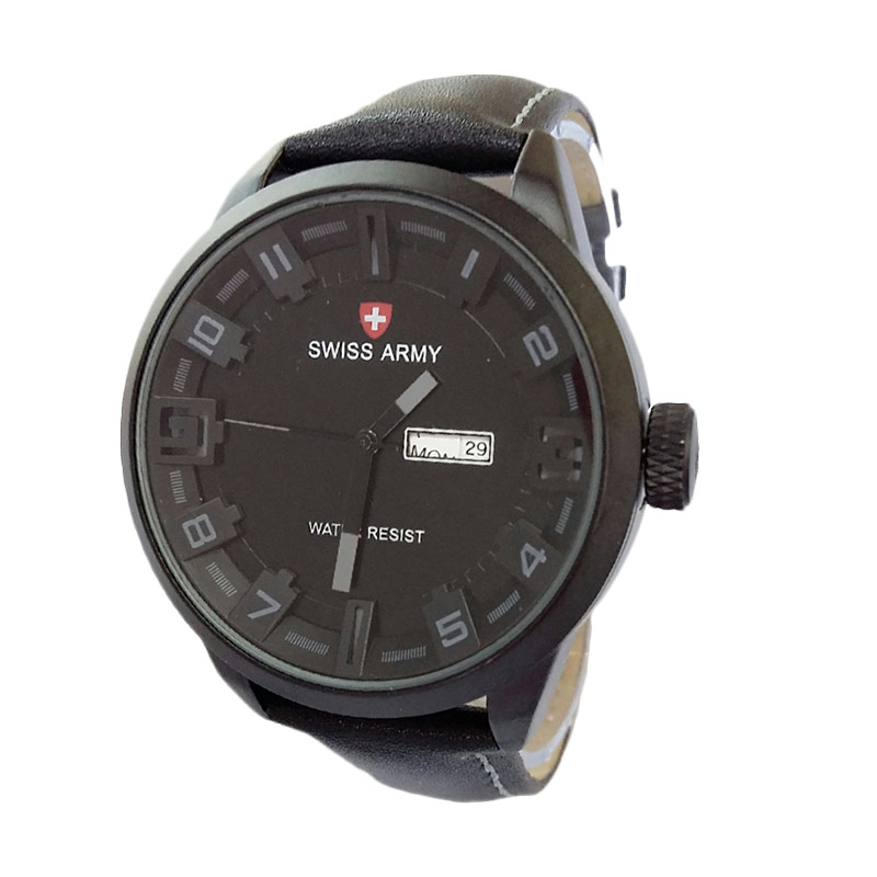 Swiss Army SA4199BG Analog Watch Jam Tangan Pria - Black Grey