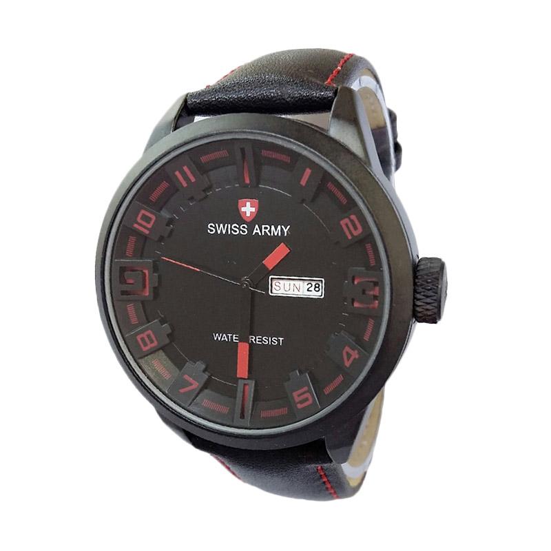 Swiss Army SA4199BR Analog Watch Jam Tangan Pria - Black Red