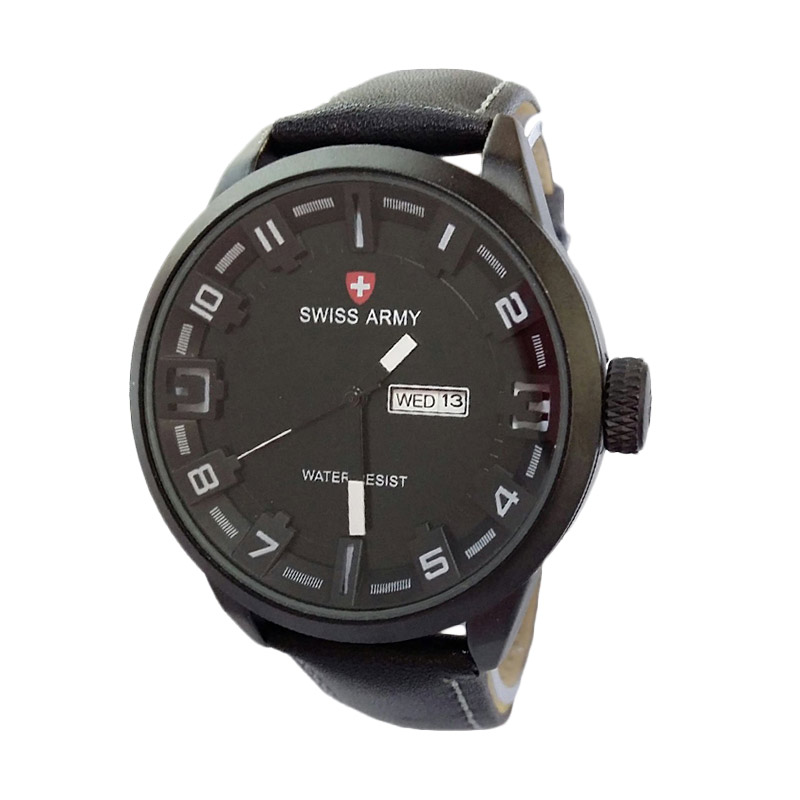 Swiss Army SA4199BW Analog Watch Jam Tangan Pria - Black White