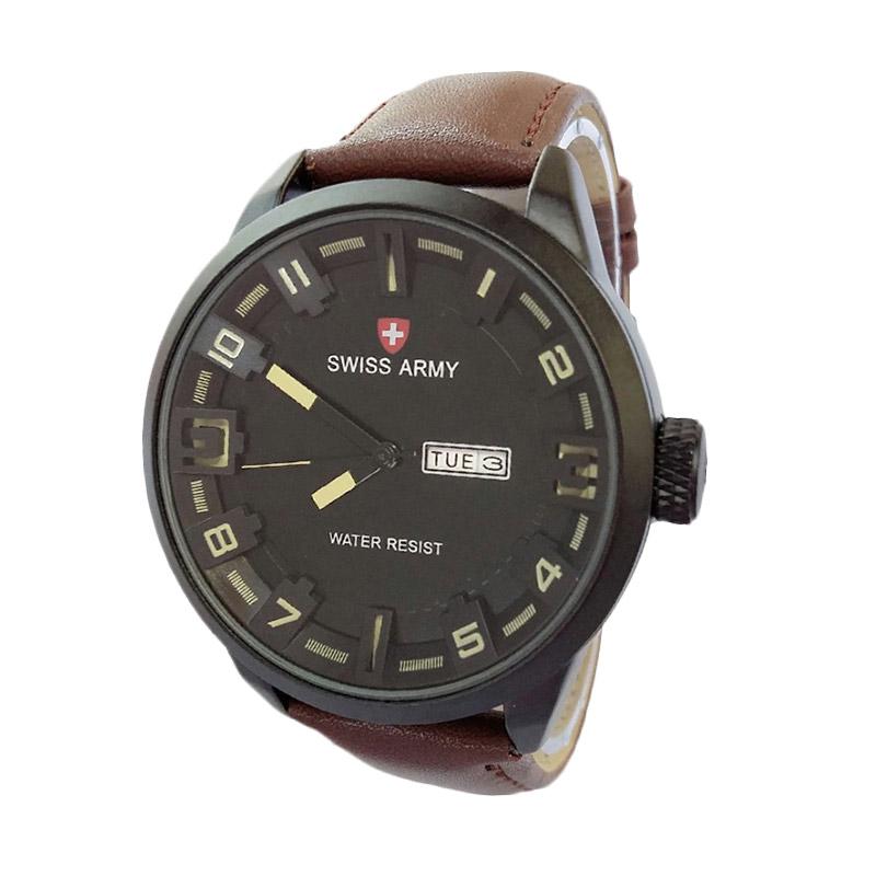 Swiss Army SA4199DB Analog Watch Jam Tangan Pria - Ligth Brown