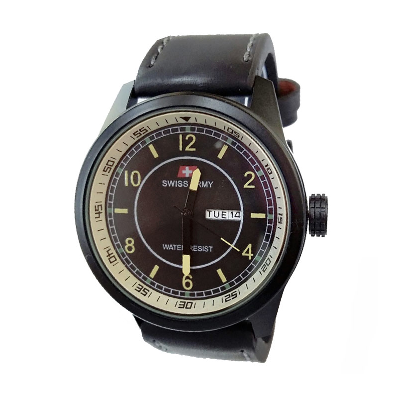 Swiss Army SA7415BY Jam Tangan Pria - Black Yellow