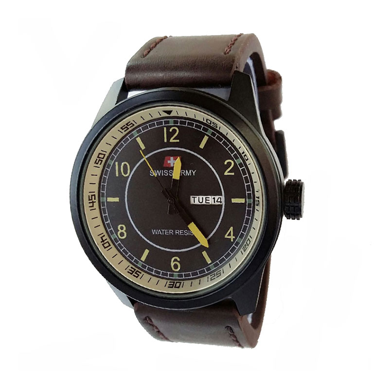 Swiss Army SA7415DBY Jam Tangan Pria - Dark Brown