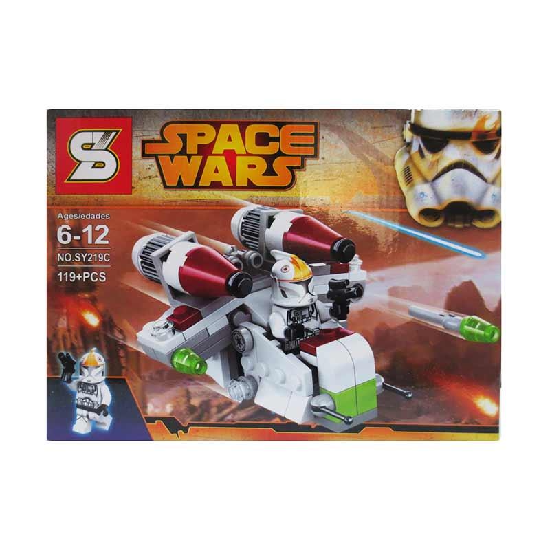 Sy Space Wars 219 C Mainan Blok dan Puzzle