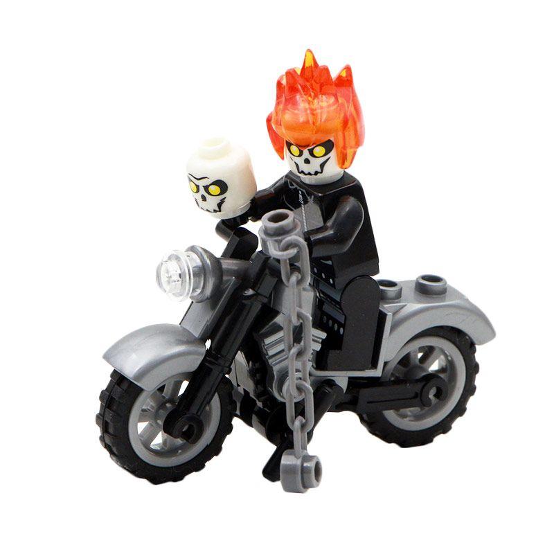 Sy 220 B Ghost Rider Mainan Blok dan Puzzle