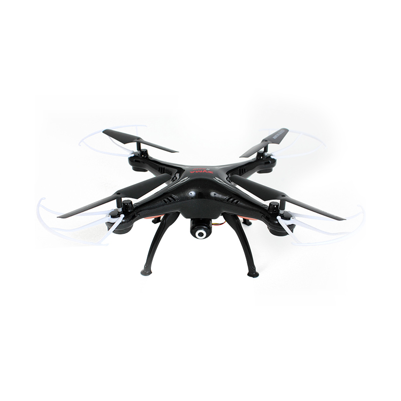 Syma X5SW FPV Real Time Transmission 4CH RC Quadcopter - Black + Free Battery