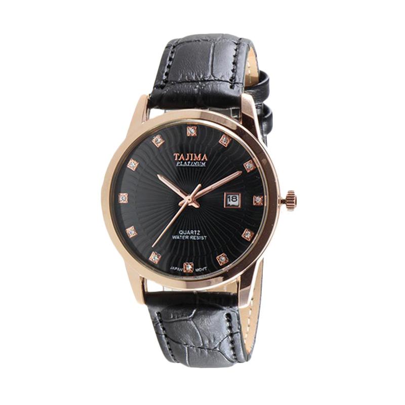 Tajima Analog Watch Date 3096 GL 05 Jam Tangan Pria - Hitam