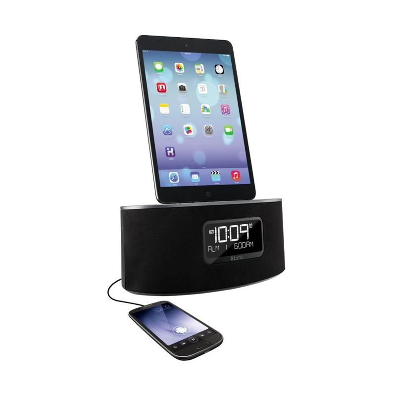 iHome iDL46 Hitam Lightning Dock and USB Charge or Play for iPad or iPhone or iPod