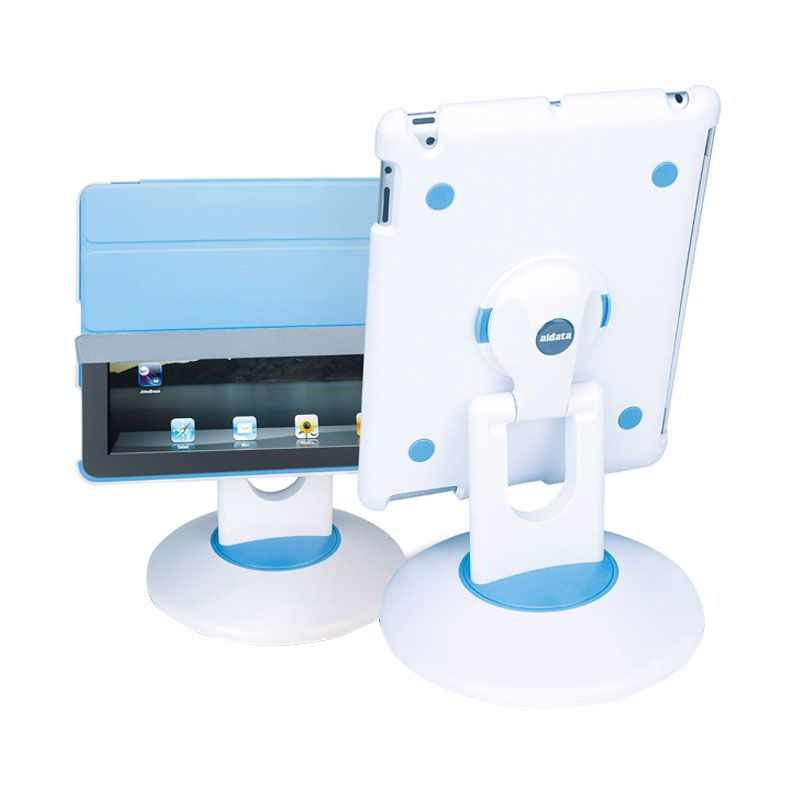 Aidata White Blue Stand Holder for Apple iPad
