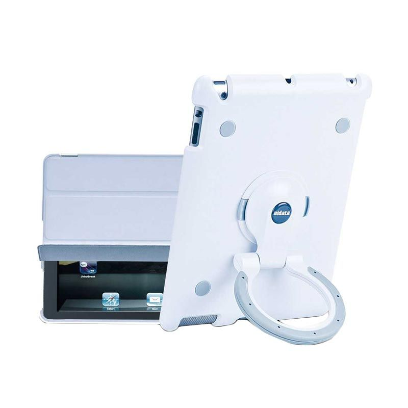 Aidata White Grey Stand Holder for Apple iPad