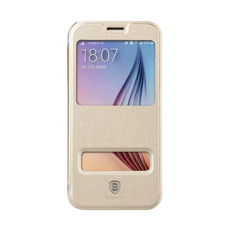 Baseus Dual Viewing Primary Gold Casing for Samsung Galaxy S6
