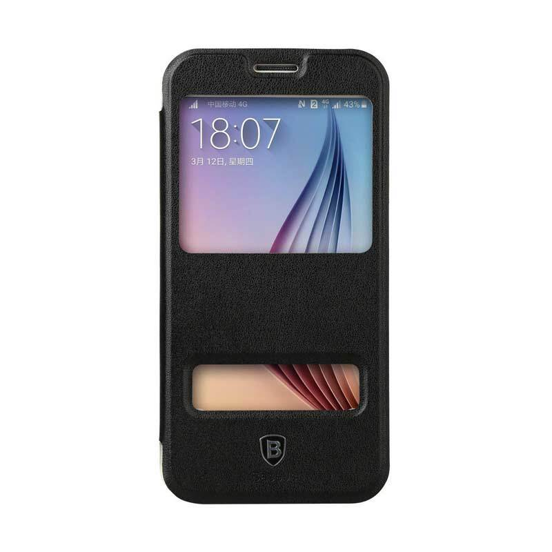 Baseus Dual Viewing Primary Hitam Casing for Samsung Galaxy S6