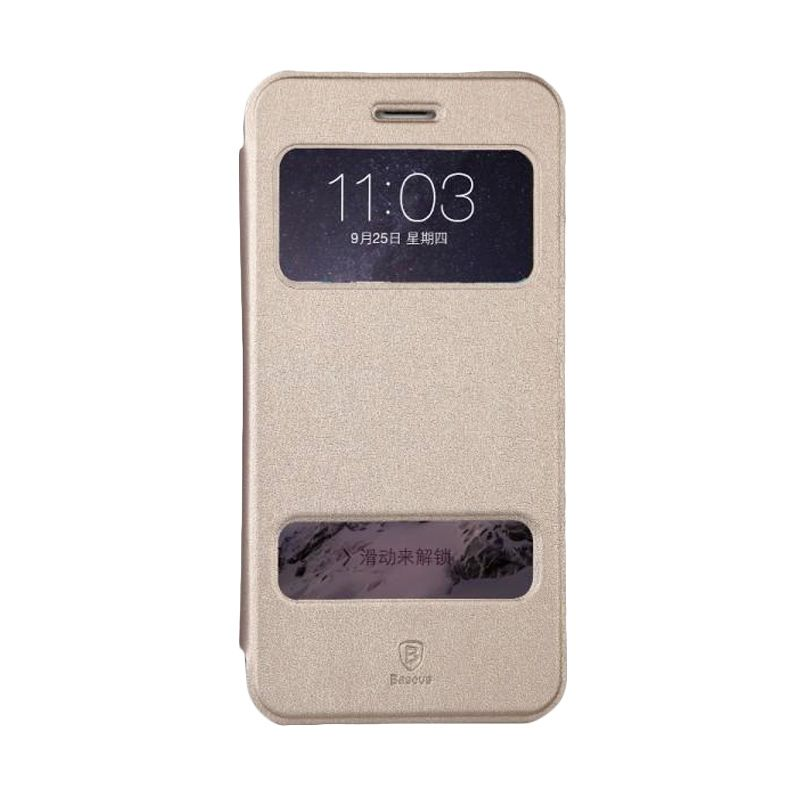 Baseus Mile Series Thin Leather Gold Casing for iPhone 6