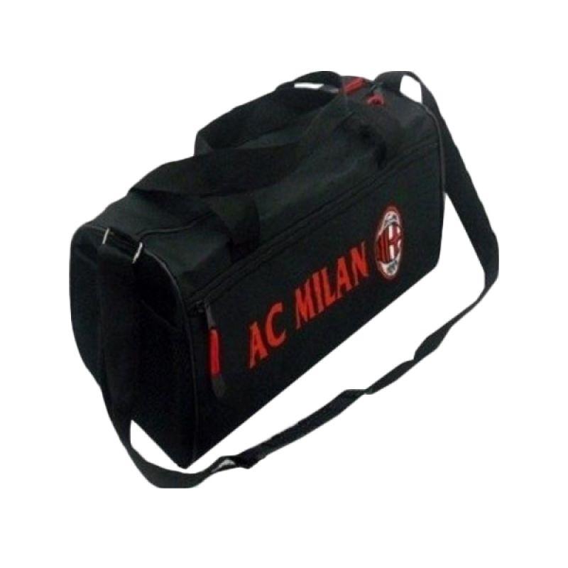 Tas Klub Bola AC Milan Hitam Sport Bag