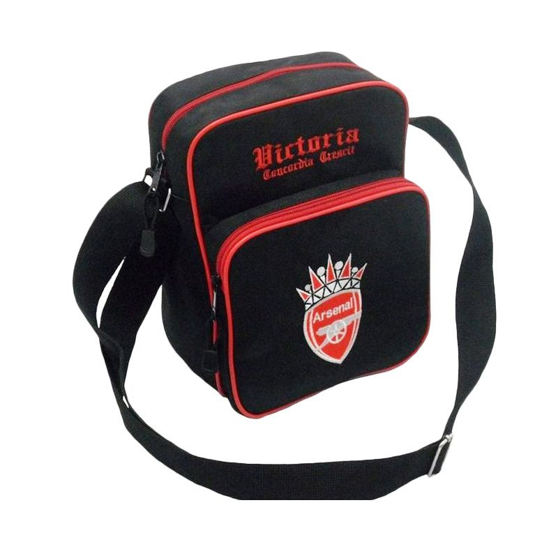 Tas Klub Bola Arsenal Slot Gadget Hitam Tas Selempang
