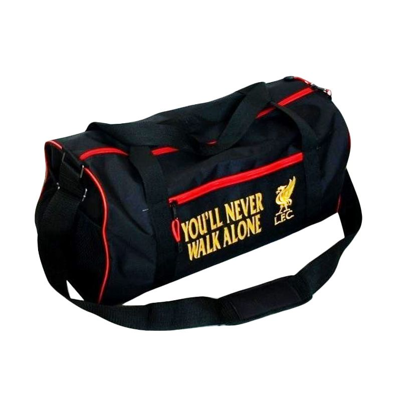 Tas Klub Bola Liverpool Hitam Travel Bag