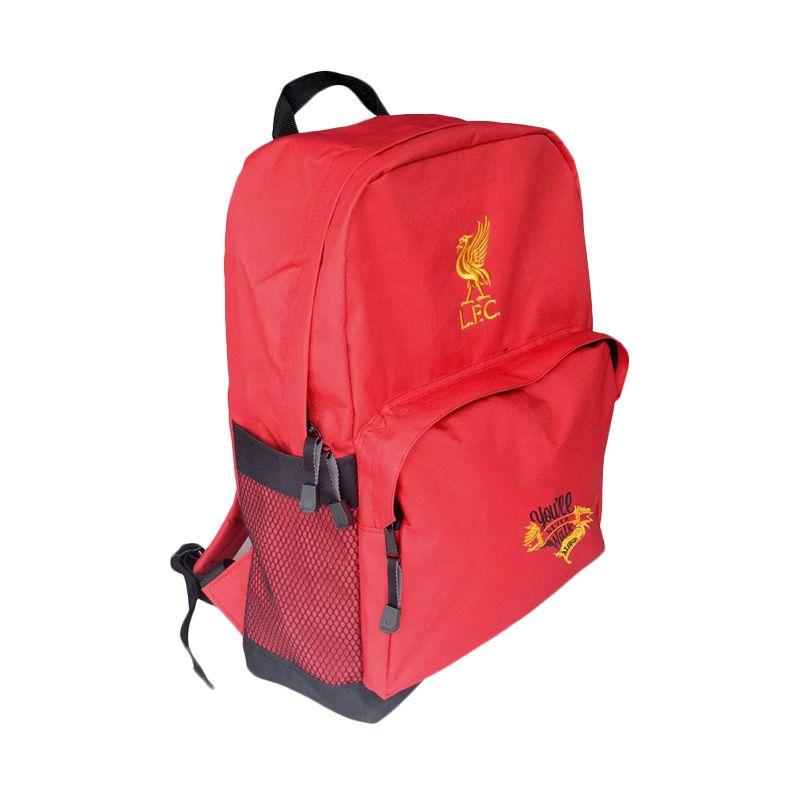 Tas Klub Bola Liverpool Slot Laptop Merah Tas Ransel