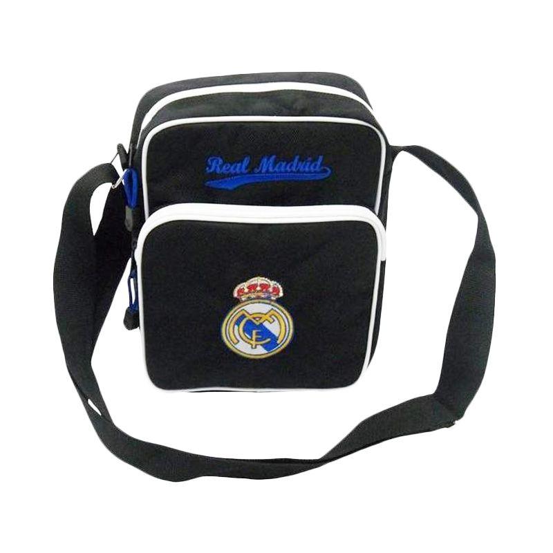 Tas Klub Bola Real Madrid Slot Gadget Hitam Tas Selempang