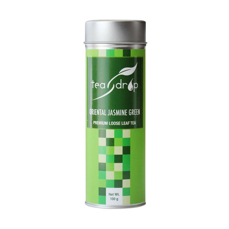 Teadrop Tin Oriental Jasmine Green