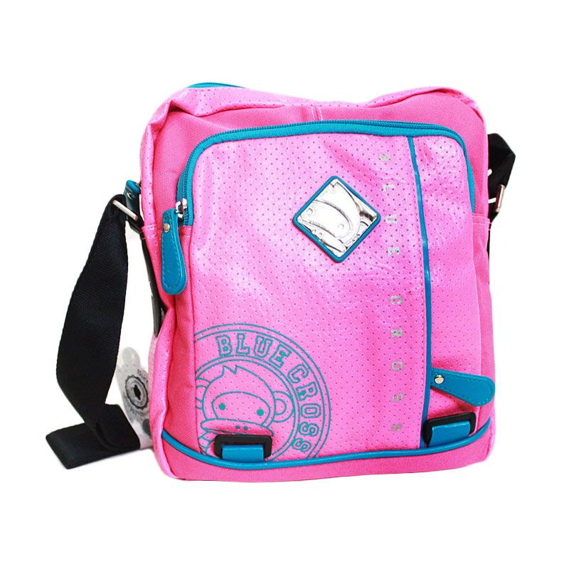Blue Cross TBC Friends Multifuction Pink Biru Tas Selempang Wanita