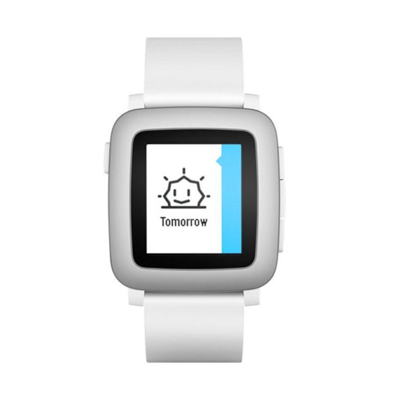 Pebble Time White Smartwatch