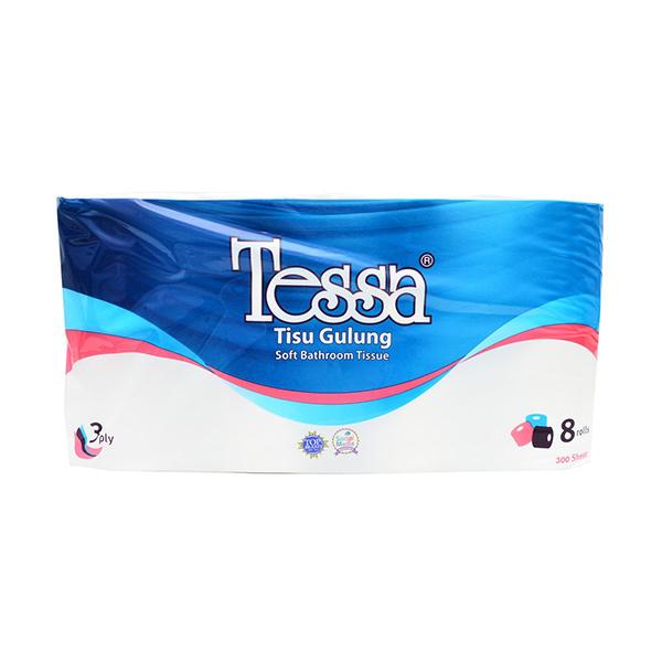 Tessa Toilet polybag PB-16 [8 rolls/300 Sheets/3 Ply]