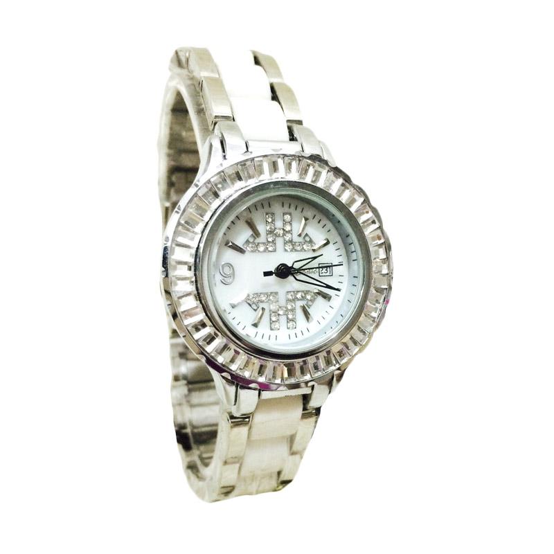 Tetonis T9355M Jam Tangan Fashion Wanita - Silver White