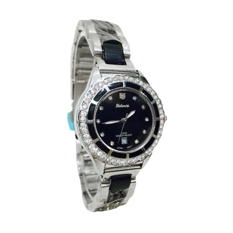 Tetonis T9695M SB Jam Tangan Fashion Wanita - Silver Hitam