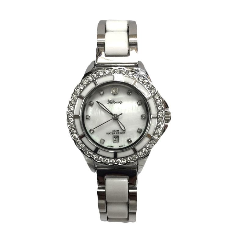 Tetonis T9695M SB Jam Tangan Fashion Wanita - Silver White