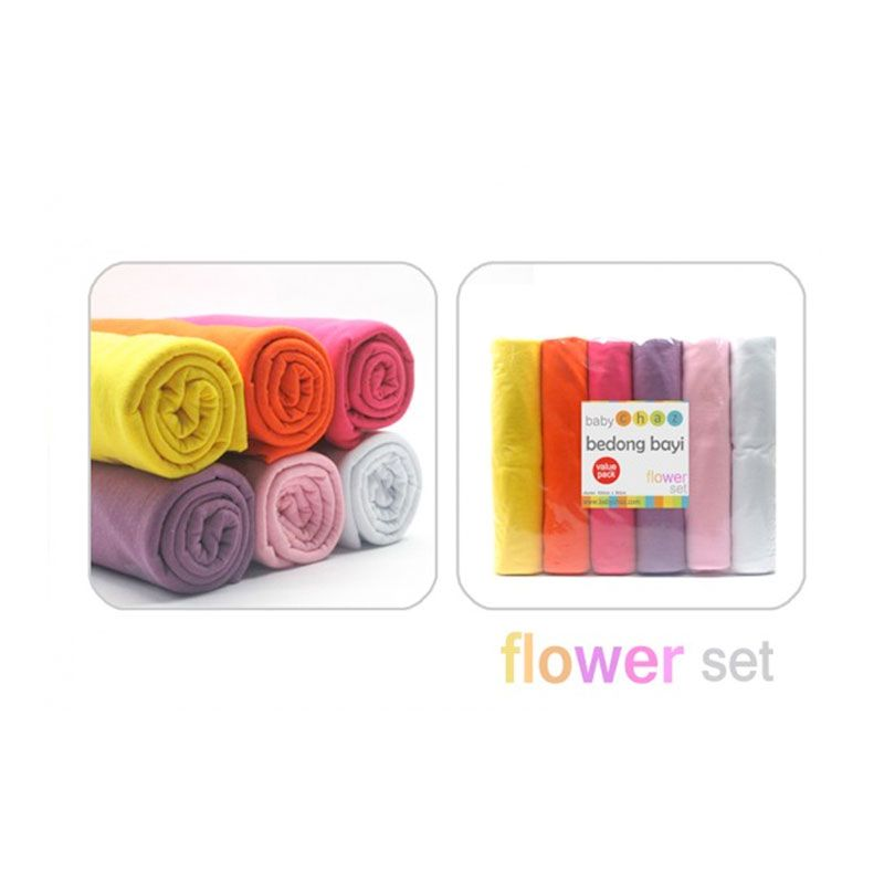 Baby Chaz Bedong Bayi Flower Set 6 Pcs