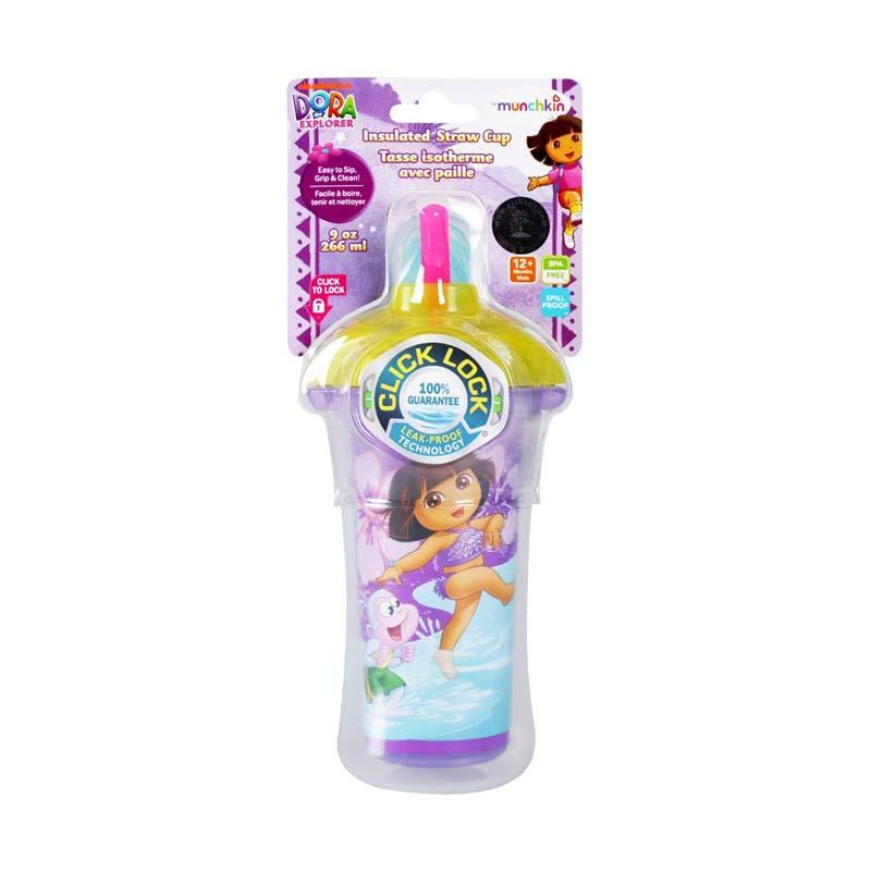 Munchkin Dora Insulated Strawcup Purple 266ml