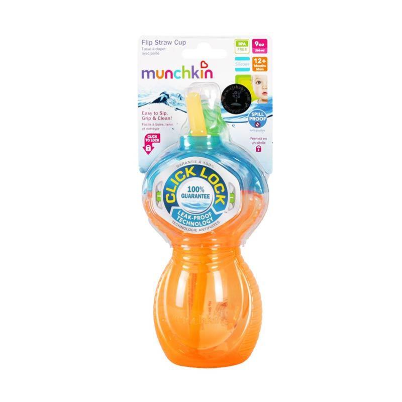 Munchkin Flip Strawcup Orange 266ml
