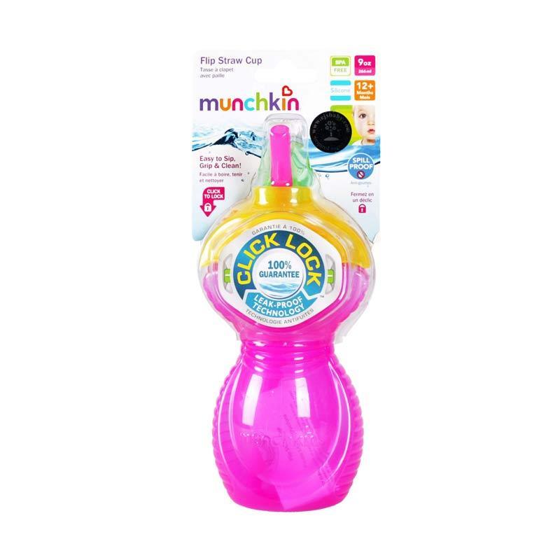 Munchkin Flip Strawcup Pink 266ml